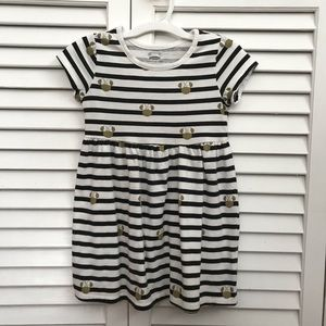 Disney / Old Navy Girls Minnie Striped Dress